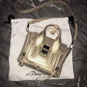 3.1 Phillip Lim Pashli Mini Platinum Gold